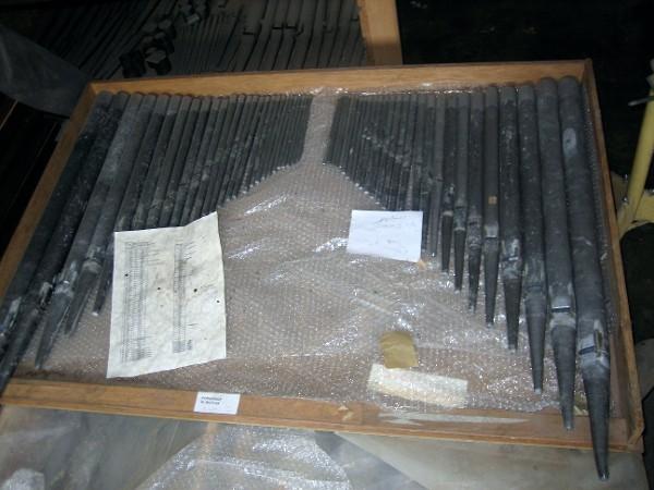 Die Pfeifen für die spätere Orgel