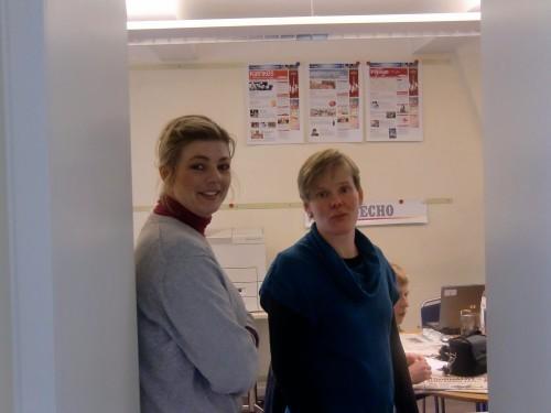 Isabelle Wittrock und Helga Huberty