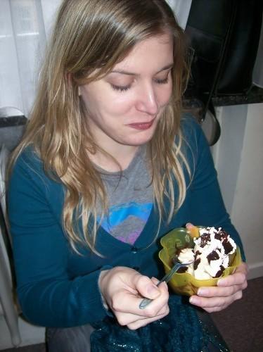 Katrin mit ihrer Kalorienbombe