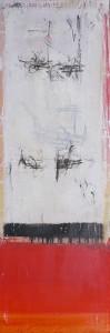 TIBETISCHER BUDDHISMUS, Mischtechnik auf Leinwand, 50 x 150 cm, 2005