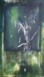 MEDITATIONSTAFEL, Acryl auf Leinwand, 80 x 120 cm, 2004