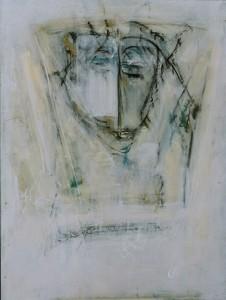 MEDITATIONSGESICHT, Acryl auf Leinwand, 60 x 80 cm, 2004