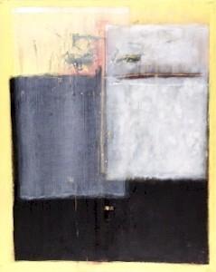 SONNENGESICHT, Mischtechnik auf Leinwand, 80 x 100 cm, 2003