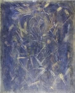 IN SICH RUHENDES GESICHT, Mischtechnik auf Leinwand, 70 x 100 cm, 2003