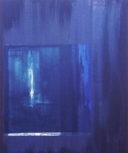 BLAUES TOR, Acryl auf Leinwand, 80 x 100 cm, 1999