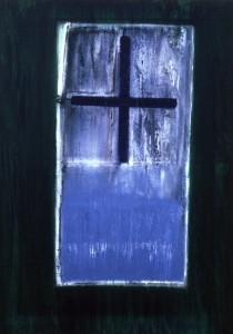 KREUZ, Acryl auf Leinwand, 80 x 100 cm, 1998