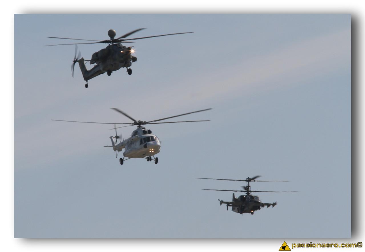 Mi-28N Mi-17 et Ka-50