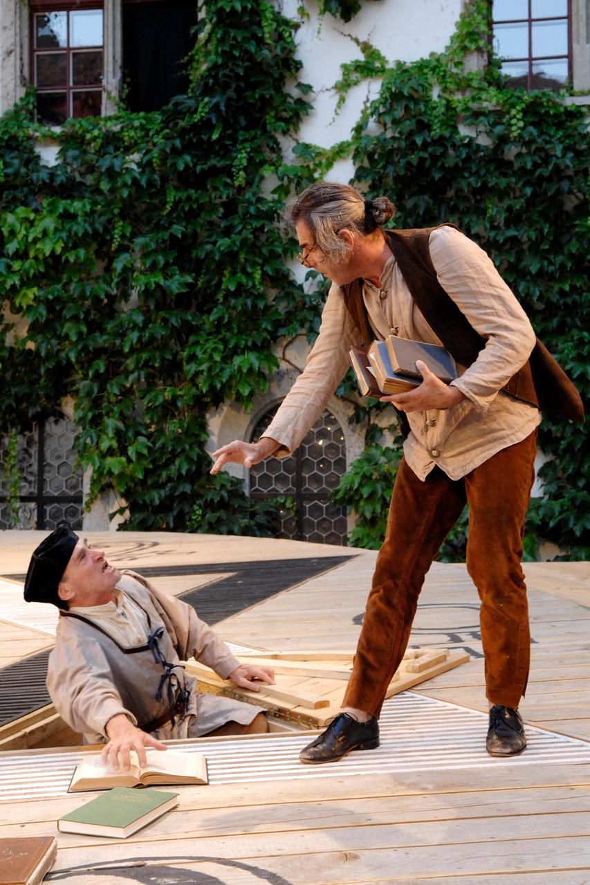 Faust: Faust und Wagner (Urs Bihler, Chasper Lüscher)