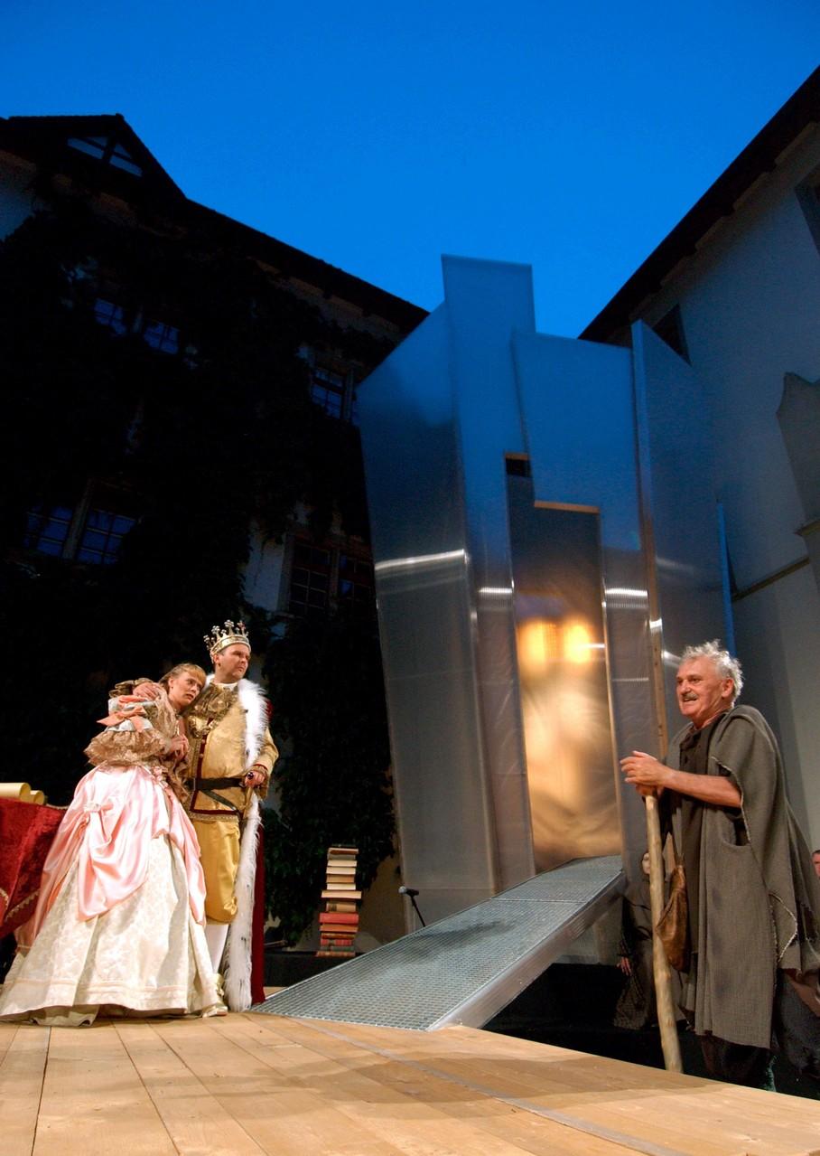 Das Salzburger Grosse Welttheater: König mit Tochter und Bettler (Ingo Ospelt, Eveline Ratering, Hans-Rudolf Twerenbold)