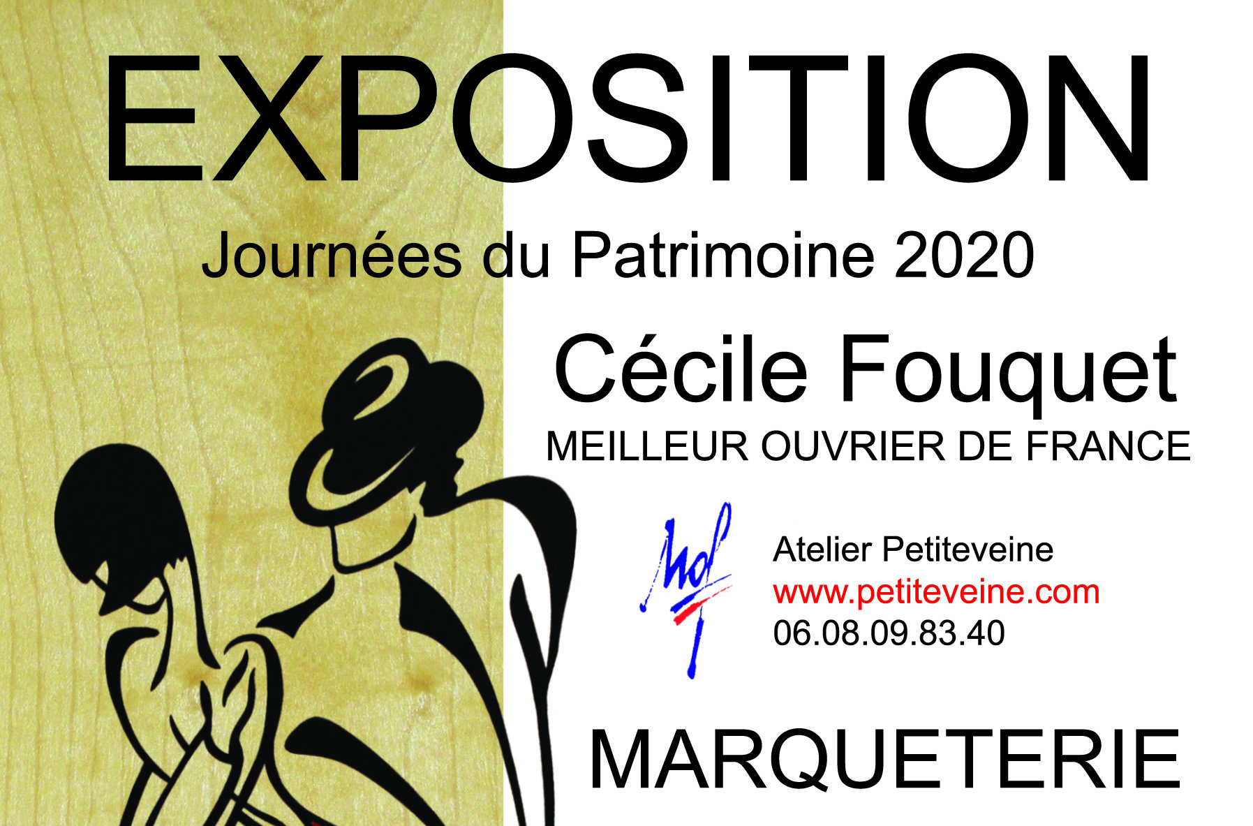 Exposition Cécile Fouquet Meilleur Ouvrier de France en Marqueterie