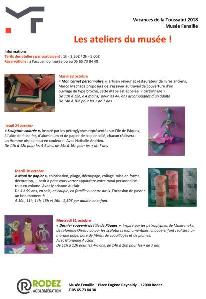 PLEIN CUIR - Artisan RELIEUR à Rodez - Musée Fenaille - Animations Reliure enfants