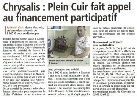 Article Centre-Presse - 12 mars 2015