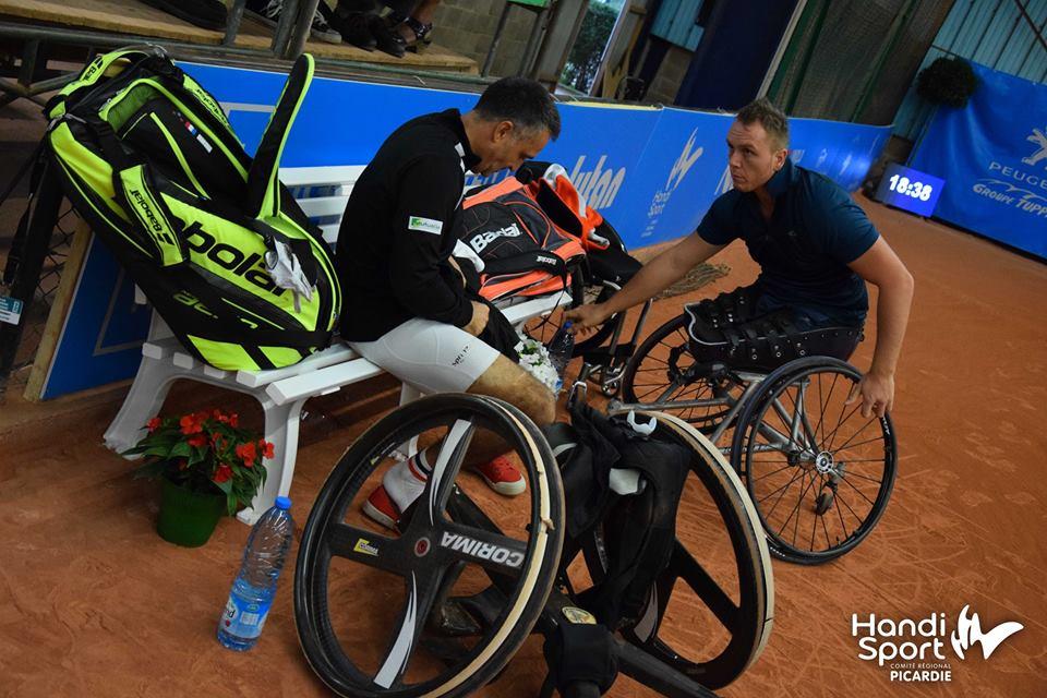 Stéphane Houdet (N°2) et Nicolas Peifer (N°4) - Champions Paralymiques en double tennis fauteuil aux Jeux de Rio