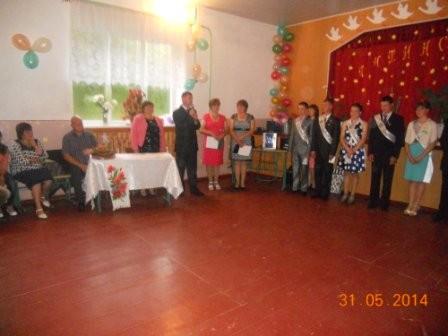 Остапчук В.В,тепло привітав випускників 2014 року
