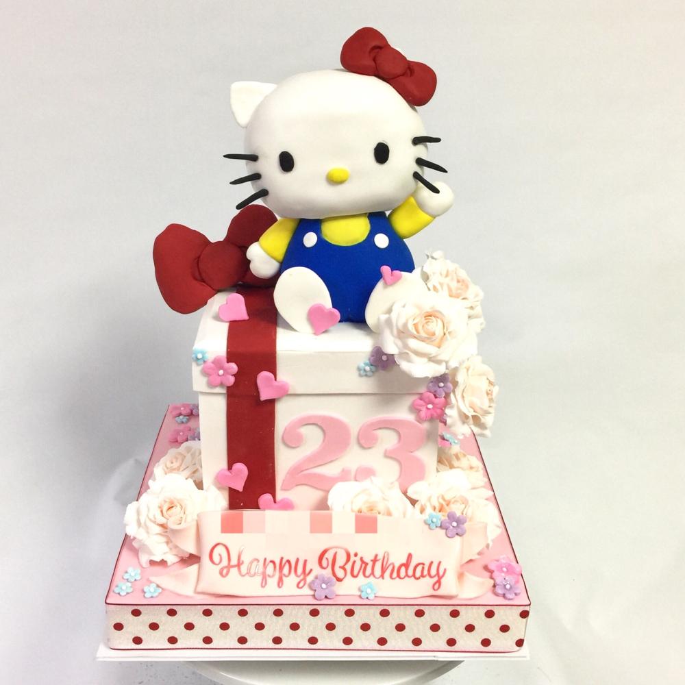キティちゃんケーキ🍰 It's all handmade and edible cake! #キティちゃん #永遠 #可愛い #好き #リボン #ケーキ #3dケーキ #hellokitty #hellokittycake #lovehellokitty #kawaii #charactercake #forever #hellokittylover #cake #gateau #torte #sculptedcake #🇯🇵