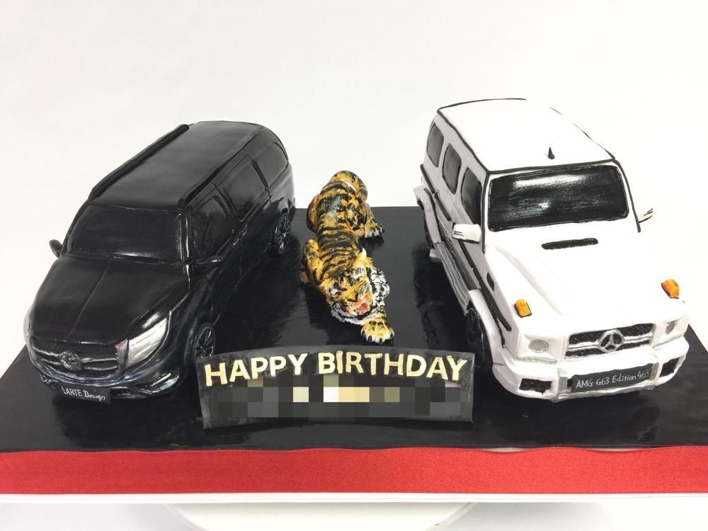 Vクラス & Gクラス & 寅🐯  #車ケーキ #vクラス #gクラス #ベンツ #メルセデス #メルセデスベンツ  #エディション463 #amg #gclass #g63amg #g63edition463 #mercedesbenz #carcake #vclass #lartedesign #benz #benzcake #Germancar #tiger #handmade #ドイツ車