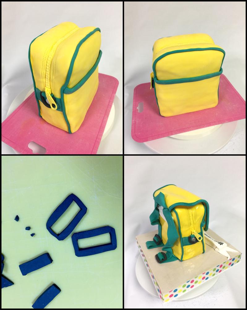 #幼稚園バック #お祝いケーキ #作る #途中 #パーツ #楽しい #形 #スイーツ #Kindergarten #kindergartenbag #sculptedcake #handmade  #fondantwork #fondantcake #pateasucre #sekerhamuru #pastadizucchero #🇯🇵#Japan #japanmade