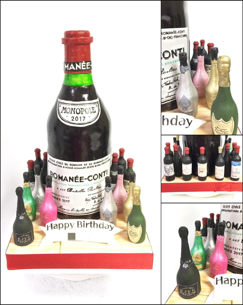 ワイン ロマネコンティ型特大ケーキ🍰 #ロマネコンティ #アルマンドブリニャック #ドンペリゴールド #クリュッグ #シャトー系ワイン #ワイン #シャンパン #フランスワイン #フランス  #高級ワイン  #romaneeconti #bottle #bottlecake #wine #france #francewine #armanddebrignac #domperignon #krug #🇯🇵#handmade #handpainted #cake #gateau #torte