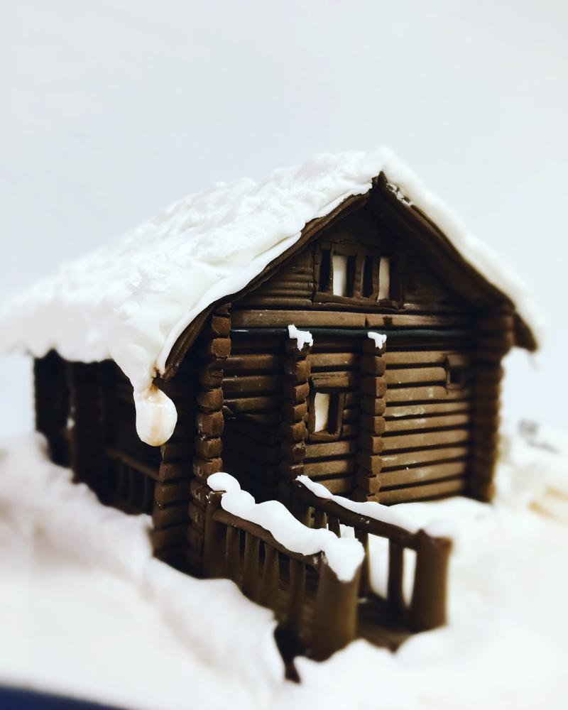 #ログハウス #雪 #雪深い #雪 #❄️ #☃️ #🌨 #🏂 #🎿#ログハウスケーキ #北海道 #寒い #冬 #happybirthday #snow #happylife #loghouse #hokkaido #snowboard #house #cake #happycake #🎂 #🇯🇵 #fondantcake