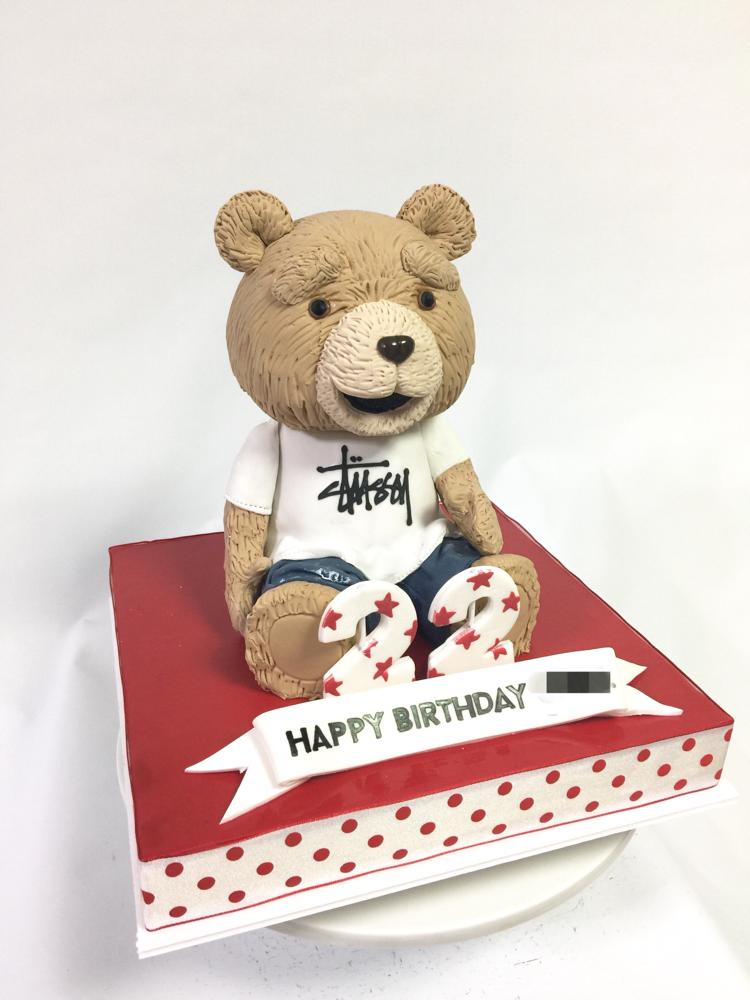 #tedcake #teddybear #ted #stussy #cake #teddy #bear #ケーキ #テッド #悪 #ベアー #ぬいぐるみ #誕生日ケーキ #食べ物 #スイーツ #激甘 #形 #sculptedcake #彫刻 #作るの大好き ##handmade  #fondantwork #fondantcake #pateasucre #sekerhamuru #pastadizucchero #🇯🇵#Japan #japanmade