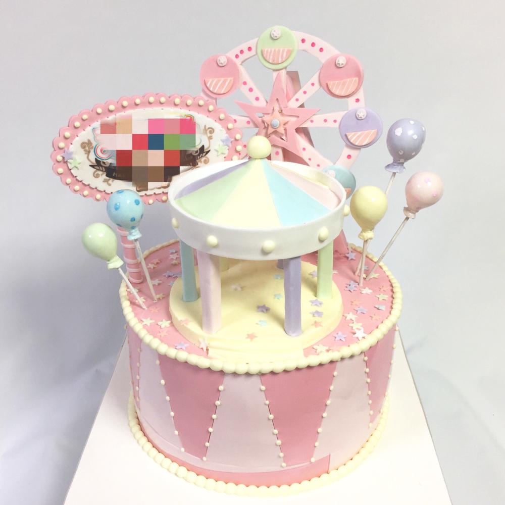 遊園地🎡テーマ イベントケーキ🍰 #遊園地 #パステルカラー #風船 #観覧車 #イメージ #ケーキ #イベント #かわいい #マンガ #アニメ #日本#amusementpark #pastelcolors #balloon #image #event #anime #manga #ferriswheel #kawaii #cake #gateau #torta #japanesemade #🇯🇵 #japan #メルヘン