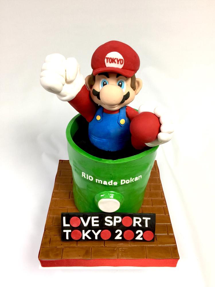 #マリオ #東京 #オリンピック #2020 #土管 #スポーツ #開催が楽しみ #スーパーマリオ #ケーキ #マリオケーキ #全長約50センチ #🇯🇵 #🎂#🗾 #tokyo #riomadedokan #mario #mariocake #sport #japan #Japanesecharacter #cake #fondantcake