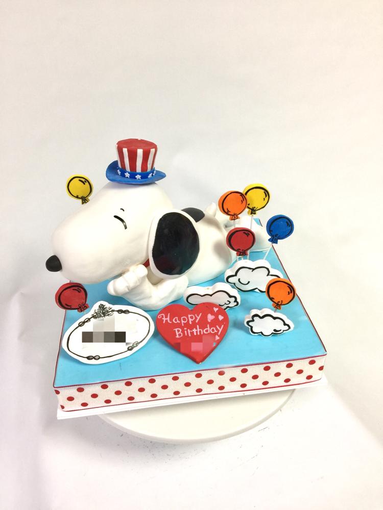 #スヌーピー #リラックス #可愛い #寝転び #風船 #雲 #誕生日ケーキ #スヌーピーケーキ #charactercake #character #Snoopy #snoopycake  #pateasucre #sekerhamuru #pastadizucchero #fondantcake #🇯🇵