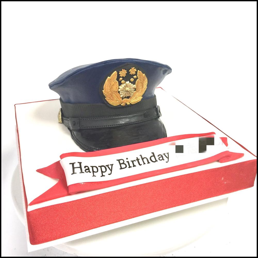 警察官帽子型ケーキ🎂  #日本 #警察 #警察官 #お仕事 #警察帽子 #ケーキ #誕生日ケーキ #police #japanesepolice #policehat #hat #japan #uniforms #policeuniform #gateau #pateasucre #cakestagram #cake #policecake #fondantcake #japanmade #japanesemade