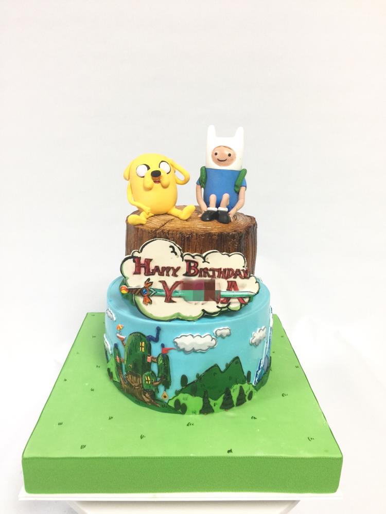 #アドベンチャータイム #誕生日 #ケーキ #ゲーム #game #adventuretime #cake #party #character #🇯🇵 #2段ケーキ