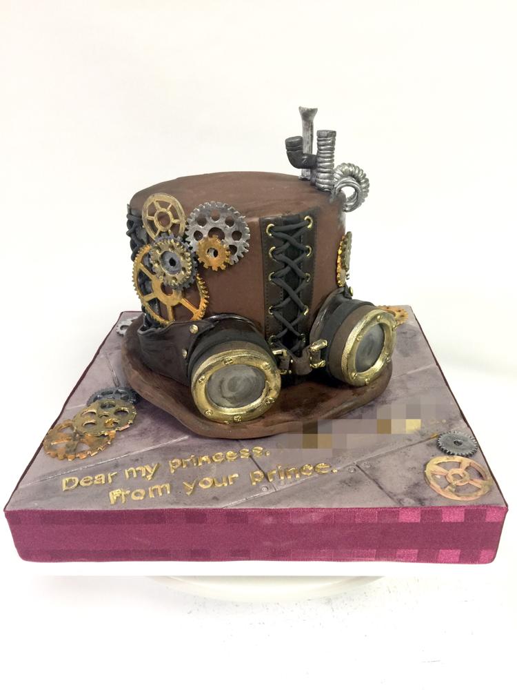 #おはようございます #スチームパンク #帽子 #ゴーグル #手作業 #手仕事 #歯車 #誕生日ケーキ #レトロフィーチャー  #ファンタジー #テクノロジー #ファッション #steampunk #sf #fantasy #fashion #hut #steampunkgoggles #steampunkstyle #steampunkcake  #fondantcake #pateasucre #pastadizucchero #sekerhamuru #🇯🇵