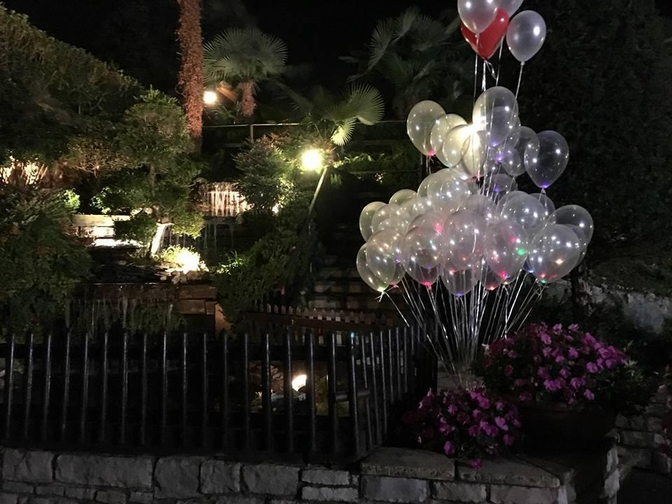 palloncini a elio con led luminoso