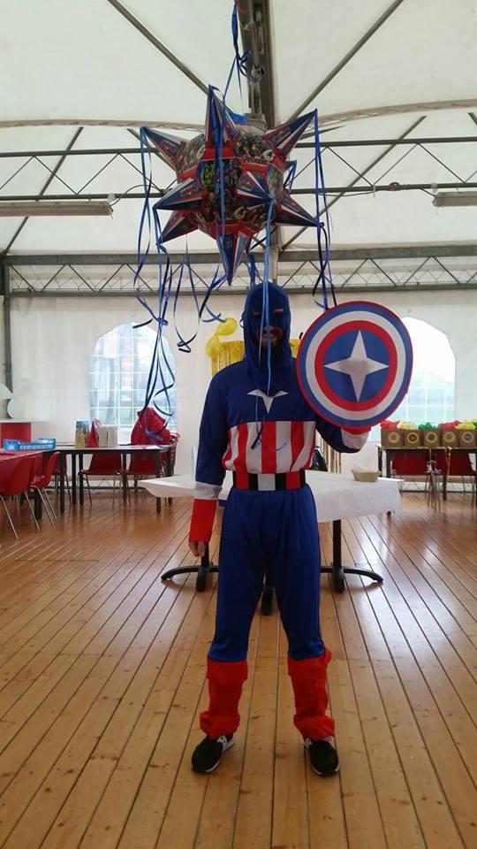 festa a tema capitan america