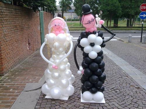 sposi palloncini