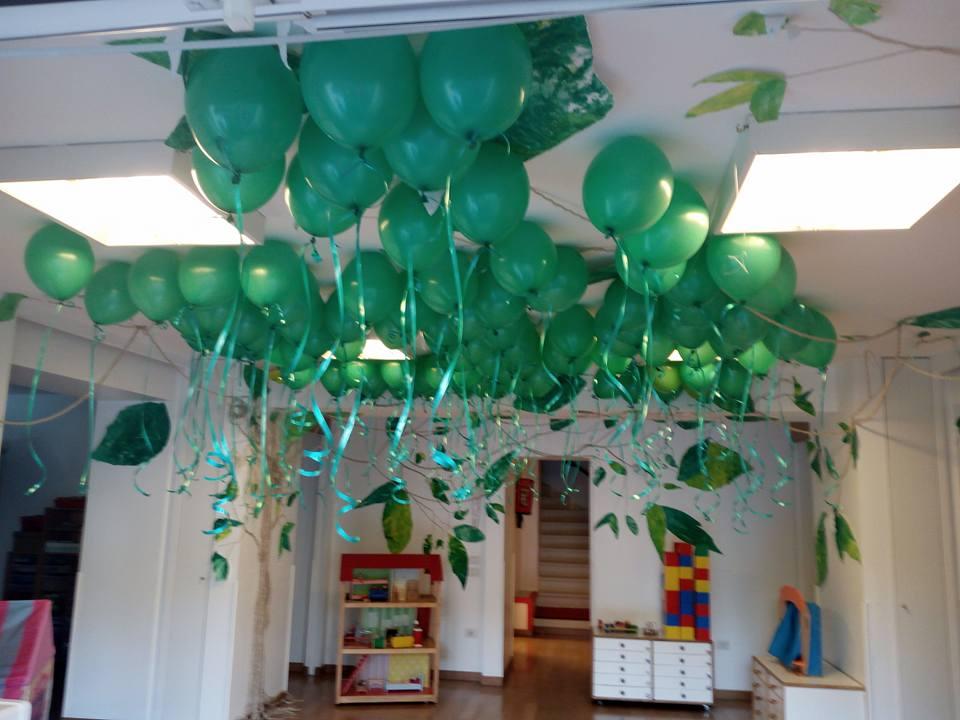 inaugurazione asilo con palloncini ad elio