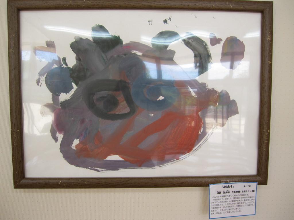 子ども達の作品も展示されています