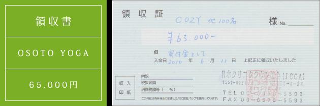 領収書|オソトヨガ2010|2010.06.11