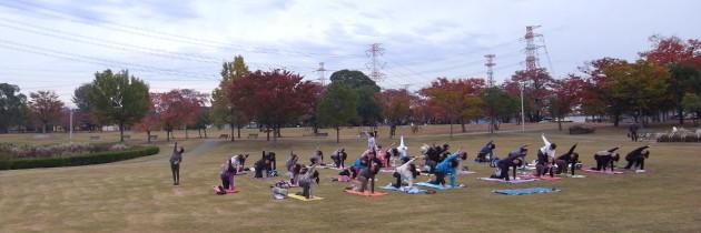 cozy|オソトヨガ2012(秋)|春日井市|落合公園
