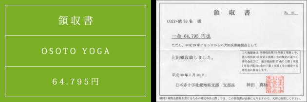 領収書|オソトヨガ2018|2018.05.22