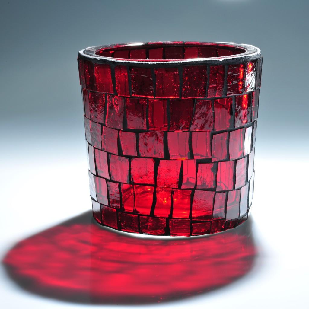 windlicht glas mosaik selber machen wohn design. Black Bedroom Furniture Sets. Home Design Ideas