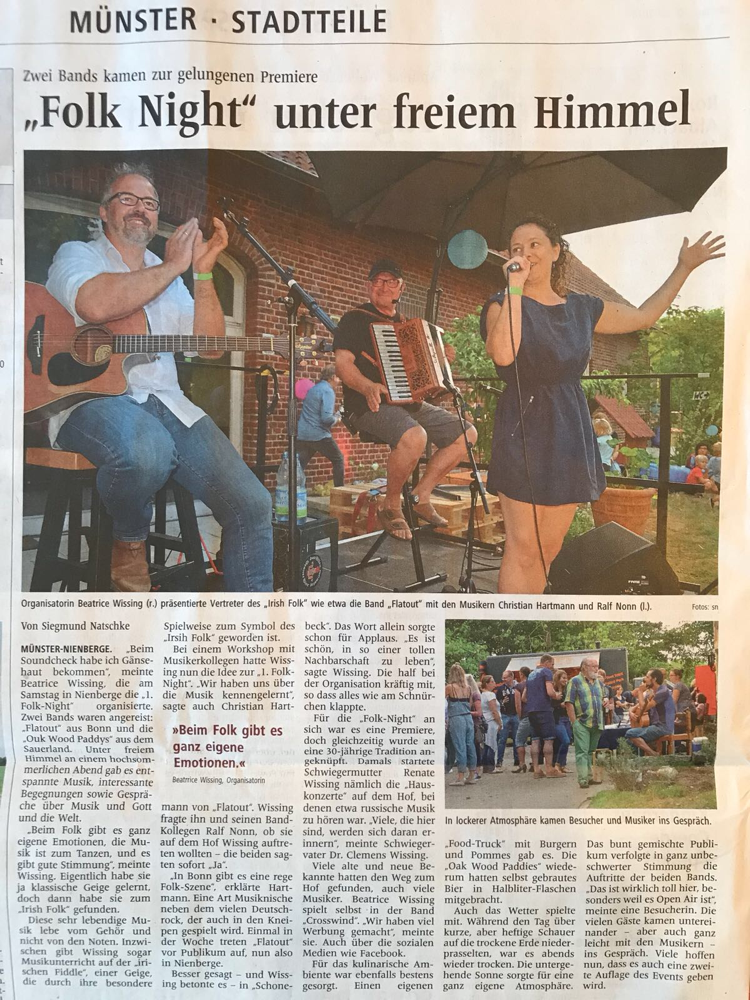 1. Folk Night Schonebeck am 28.7.2018