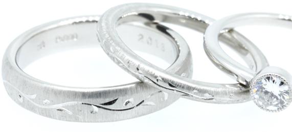 鍛造製法の指輪