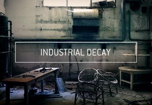 Photographie d'art contemporain lieu abandonné industrie friche industrielle lieu désaffecté