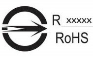 Example of BSMI approval inspection mark with Taiwan RoHS