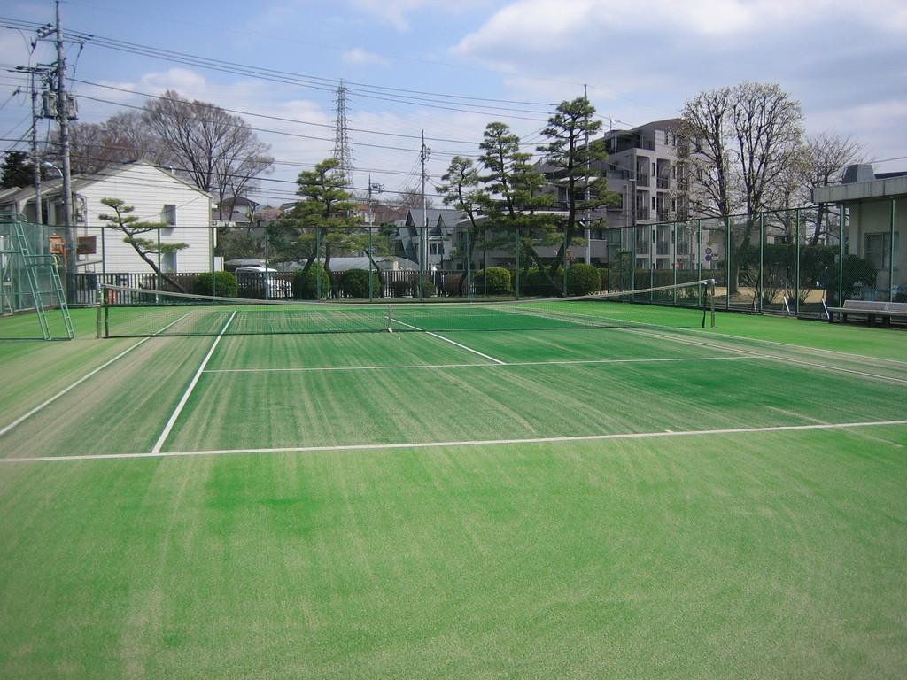 砂入り人工芝テニスコート  JR研究所