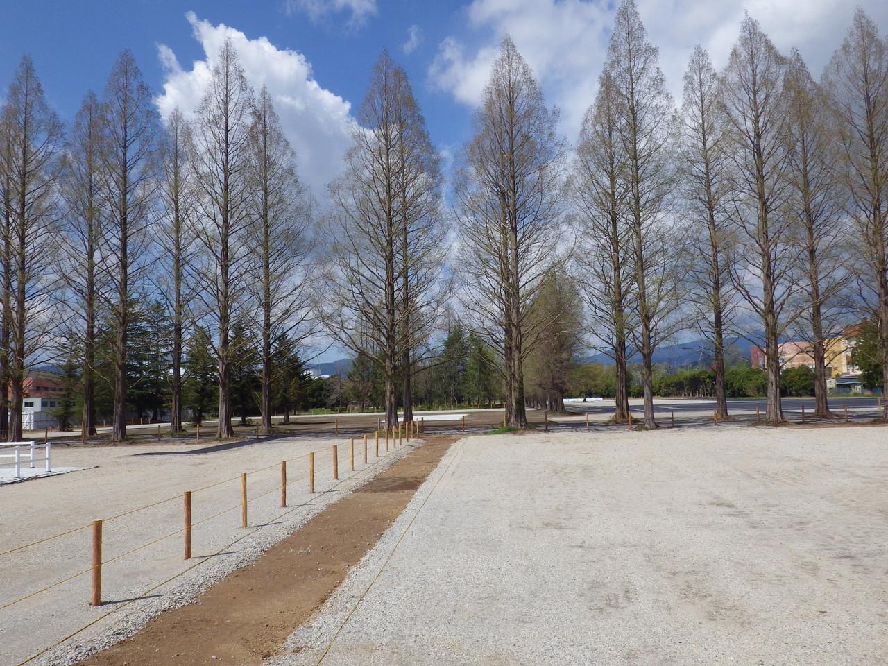 砕石舗装、ロープ柵  スポーツ祭東京2013あきる野市特設馬術競技場