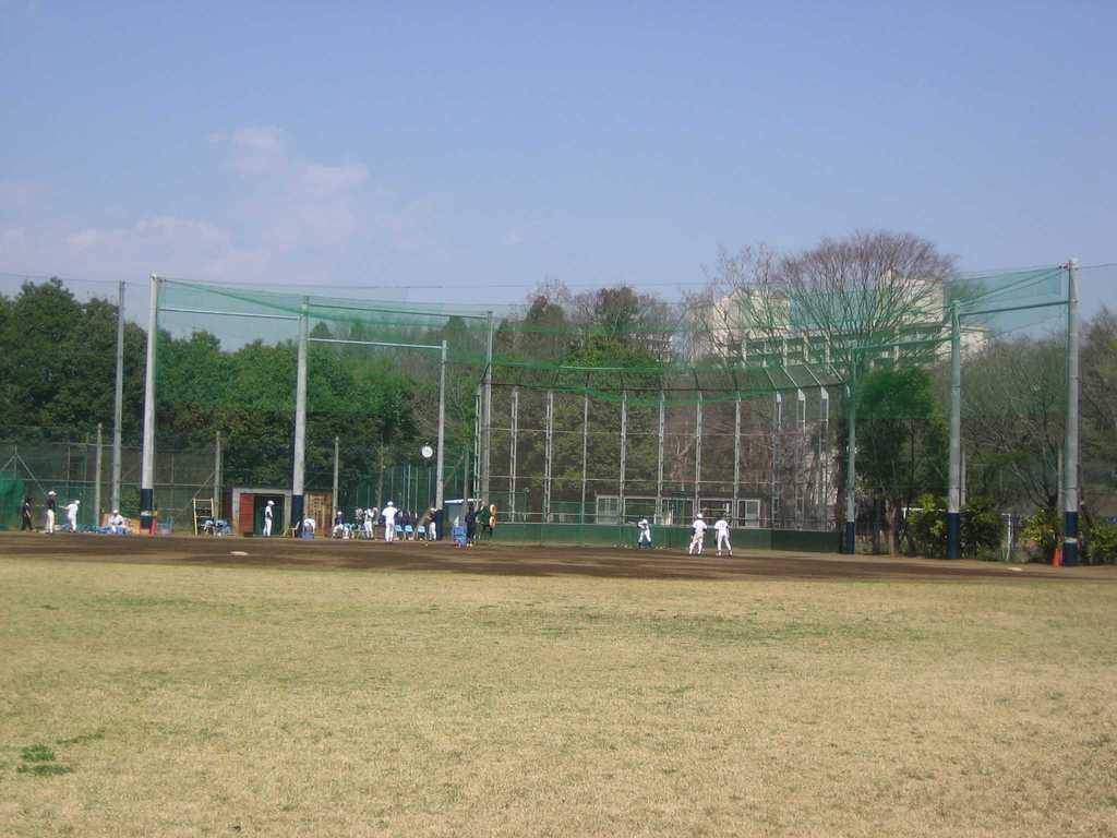 H12m 防球ネット、天井ネット  啓明学園野球場