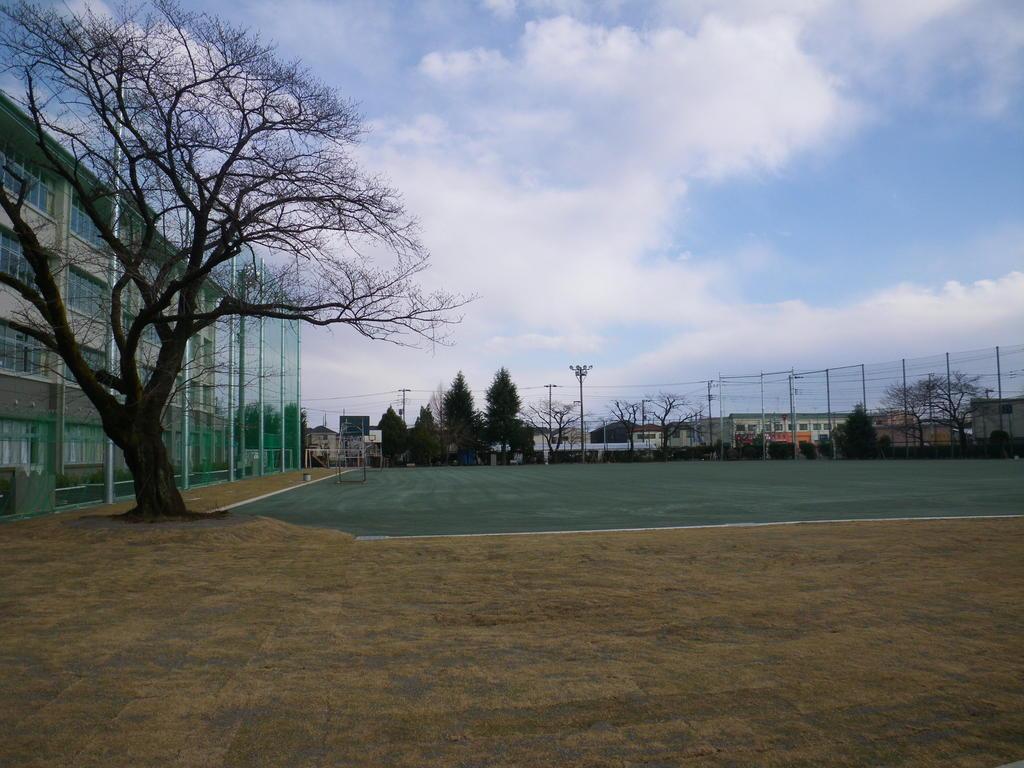 校庭芝生化及びグランドクレイ舗装工事 武蔵村山市立第一中学校