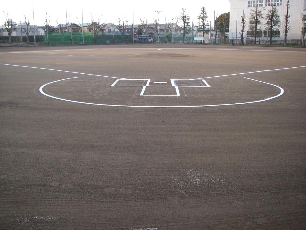 野球場クレイ舗装  桐朋学園