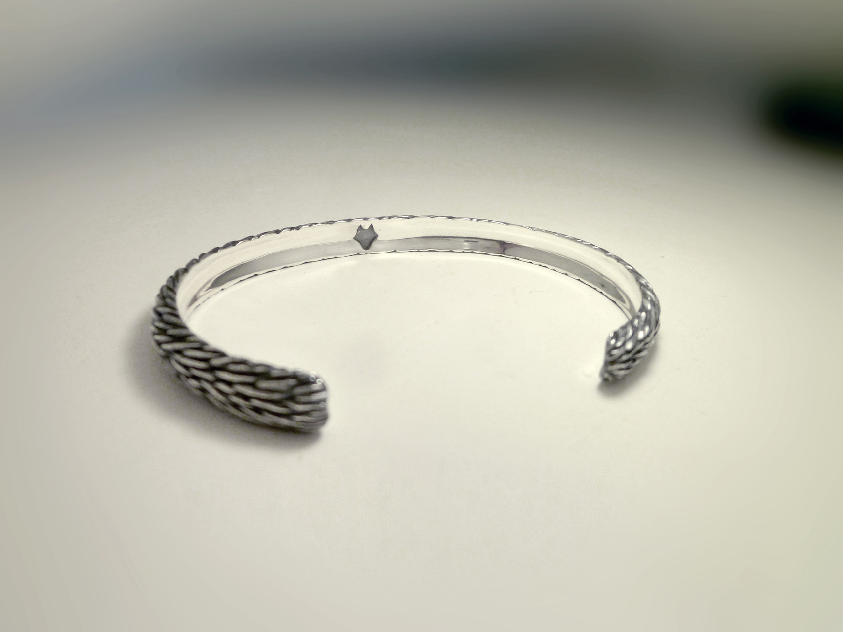 Wolf-fur textured Bangle
