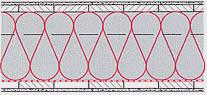 Zangen- / Tramdeckendämmung eingeblasen